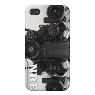 Motor gemelo negro de Turbo iPhone 4 Carcasa