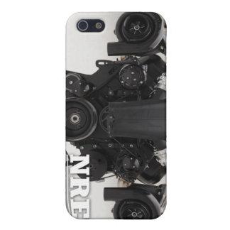 Motor gemelo negro de Turbo iPhone 5 Fundas