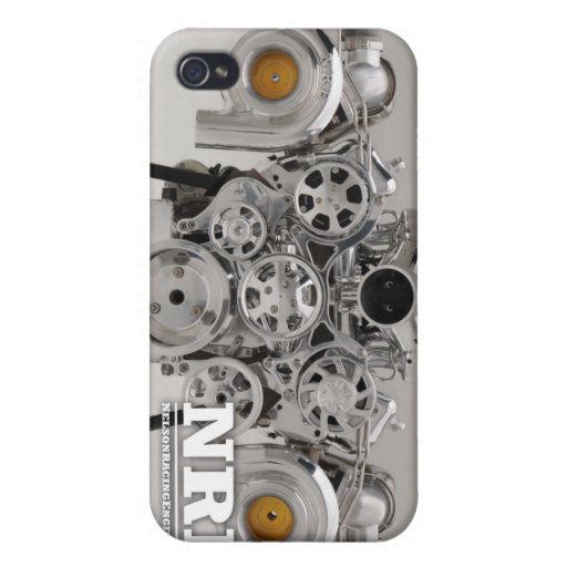 Motor gemelo pulido de Turbo iPhone 4 Fundas