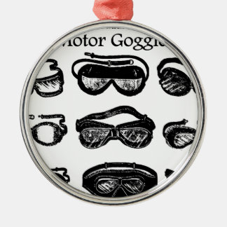 Motor Goggles Metal Ornament