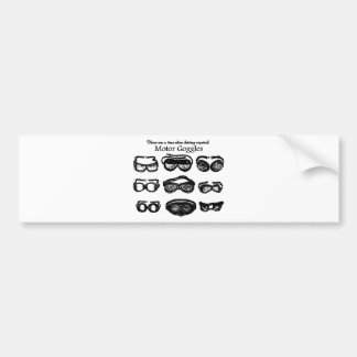 Motor Goggles Text Driving Bumper Stickers