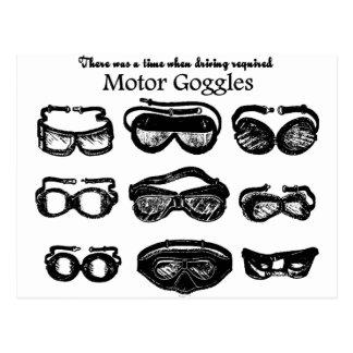 Motor Goggles Text Driving Postcard