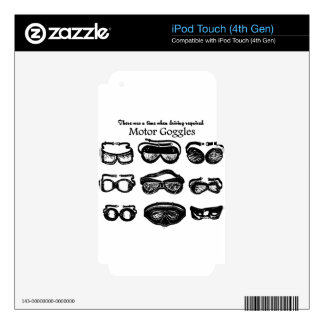 Motor Goggles Text Driving iPod Touch 4G Skin