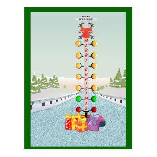 Motor Head Christmas Post Card