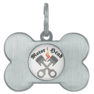 Motor Head Pet Name Tag