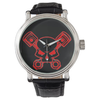 Motor Head Vintage Leather Watch