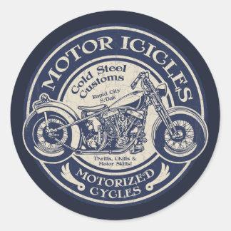 Motor Icicles Classic Round Sticker