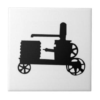Motor inmóvil azulejo cuadrado pequeño