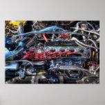 Motor - intestinos del coche poster
