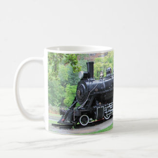 Motor jubilado del tren de ferrocarril de Seattle Taza