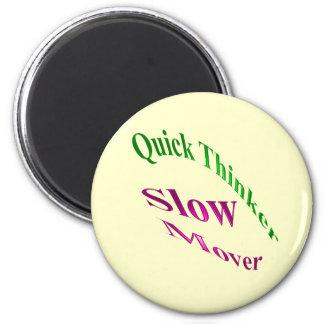 Motor lento del pensador rápido imán redondo 5 cm