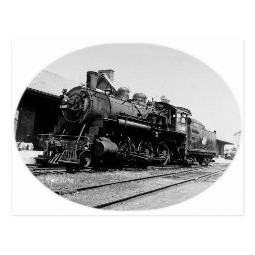 Motor locomotor 1385 del vintage postal