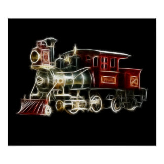 Motor locomotor del tren del vapor impresiones