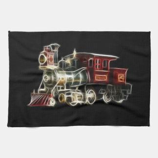 Motor locomotor del tren del vapor toallas de cocina