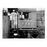 Motor locomotor del tren del vintage del motor 542 postal