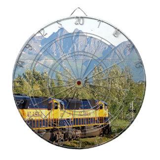 Motor locomotor y montañas del ferrocarril de