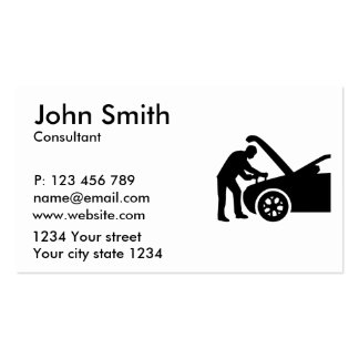 Motor mechanic business card