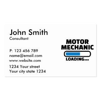 Motor mechanic loading business card