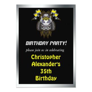 Motor Mile Birthday Party Invitations