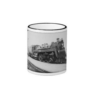 Motor nacional canadiense 5700 del ferrocarril taza de café