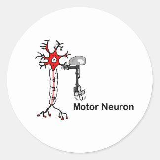 Motor Neuron Classic Round Sticker