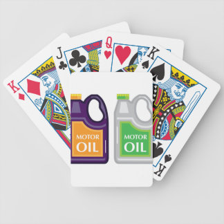 Motor Oil Can Bicycle Playing Cards