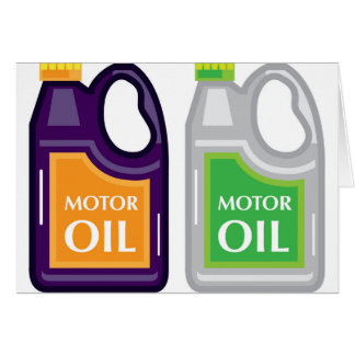 Motor Oil Can Card