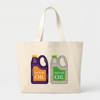 Motor Oil Can Large Tote Bag