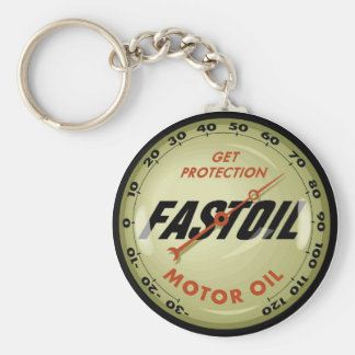 Motor Oil Basic Round Button Keychain