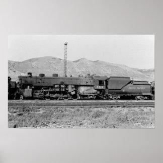 Motor pacífico #5312 del ferrocarril de la unión póster