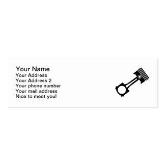 Motor piston mini business card