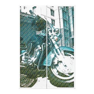 Motor Psychole (bici psica de la motocicleta:)) Impresiones De Lienzo