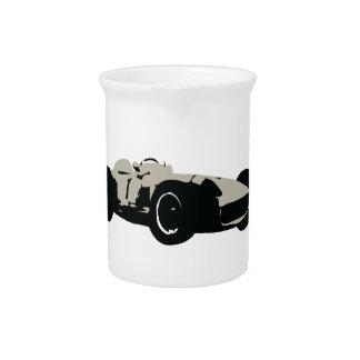Motor Racing Car illustration printed on t-shirts Pitcher