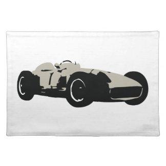 Motor Racing Car illustration printed on t-shirts Placemat