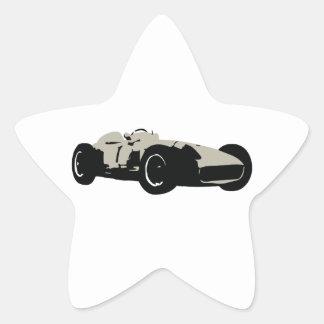 Motor Racing Car illustration printed on t-shirts Star Sticker