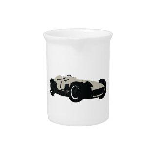 Motor racing illustration printed on t-shirts beverage pitcher