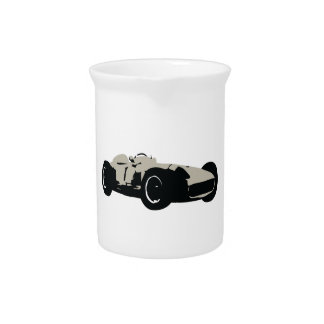 Motor racing illustration printed on t-shirts pitchers