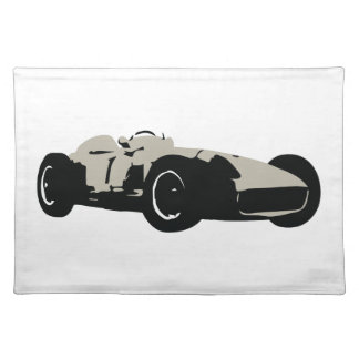 Motor racing illustration printed on t-shirts placemat