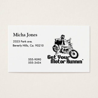 Motor Runnin Motorcycle Business Card