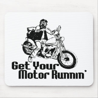 Motor Runnin Motorcycle Mouse Pad