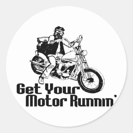 Motor Runnin Round Sticker