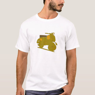 Motor Scooter Brown T-Shirt