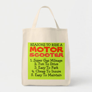 MOTOR SCOOTER Grocery Bag