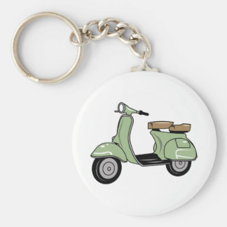 Motor Scooter Keychain