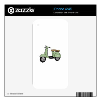 Motor Scooter Skin For iPhone 4