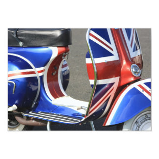 Motor Scooter with Union Jack Design Invitation