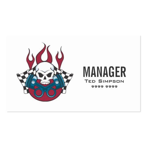 Motor Sports Car Racing Team Manager Business Card