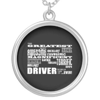 Motor Sports Racing Drivers Greatest Driver World Silver Plated Necklace