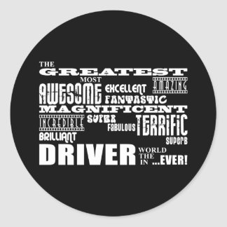 Motor Sports Racing Drivers Greatest Driver World Classic Round Sticker