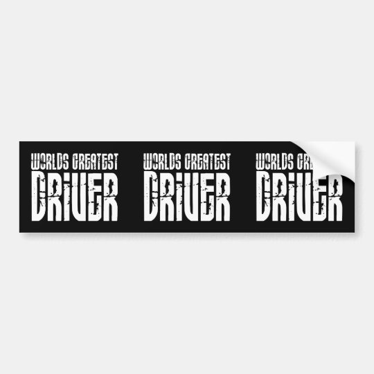 Motor Sports Racing Drivers Worlds Greatest Driver Bumper Sticker